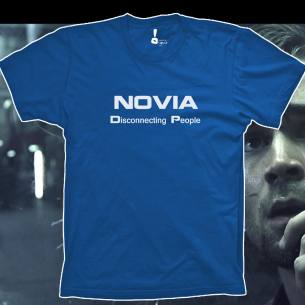 Camiseta Novia. Disconnecting people.