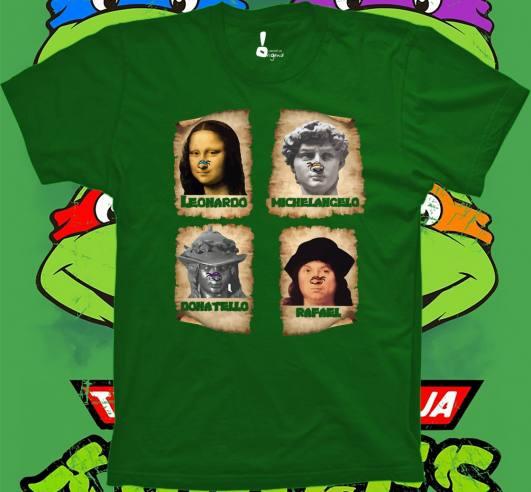 Leonardo, Michelangelo, Rafael y Donatello Tortugas Ninja