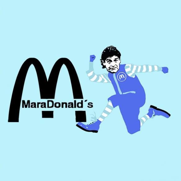 Camiseta Maradonalds